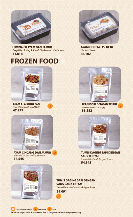 Imperial Kitchen Menu - Frozen Food 2