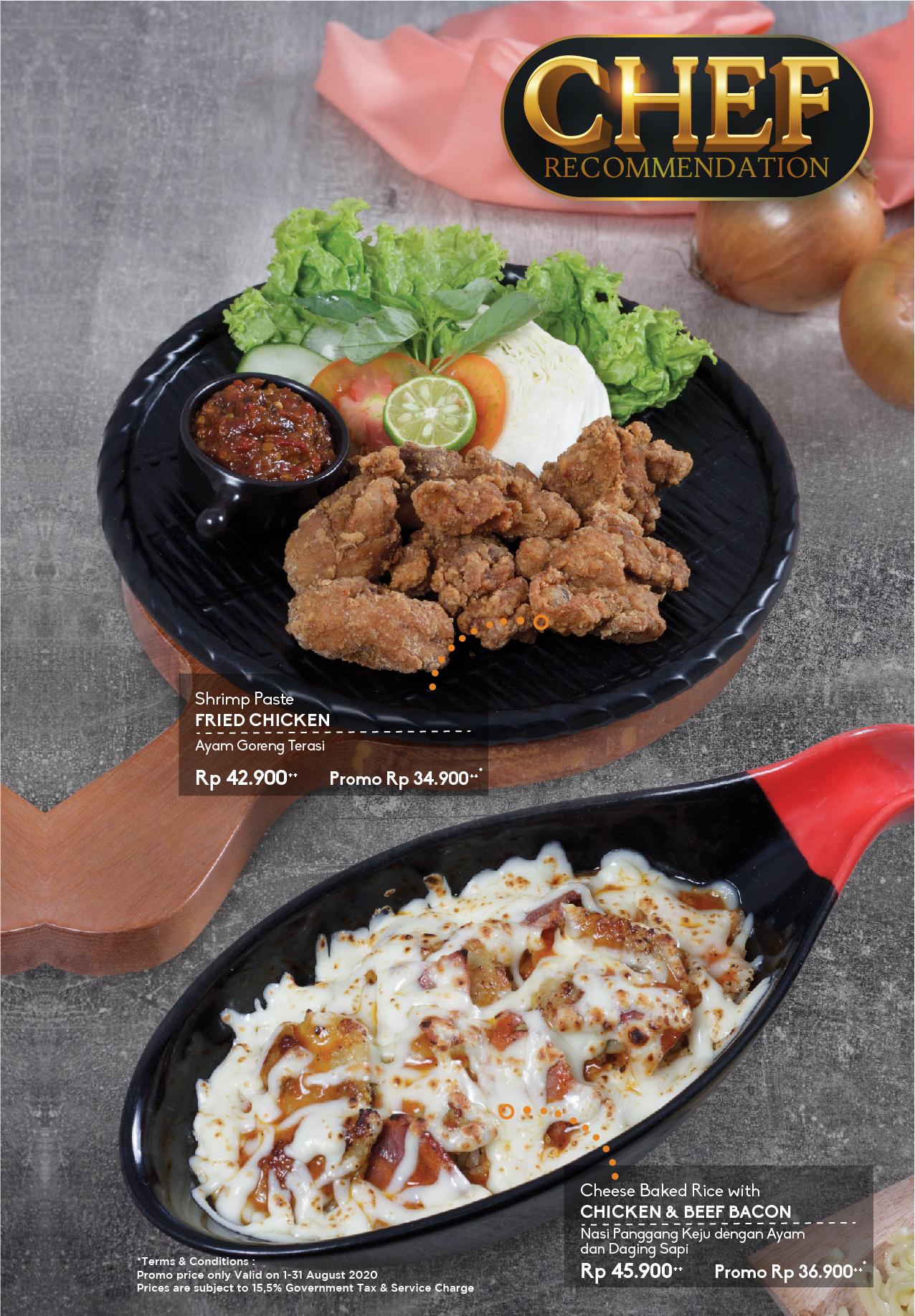The Yumz Menu Chef Recommendation