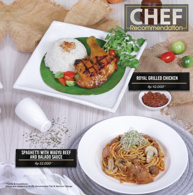 Imperial Tables - Chef Recommendation