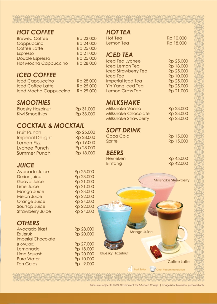 Imperial Cakery Menu - Page 19