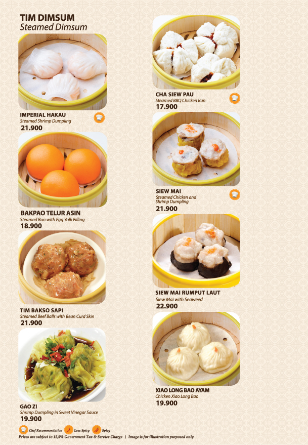 Imperial Kitchen Menu - Page 1.1