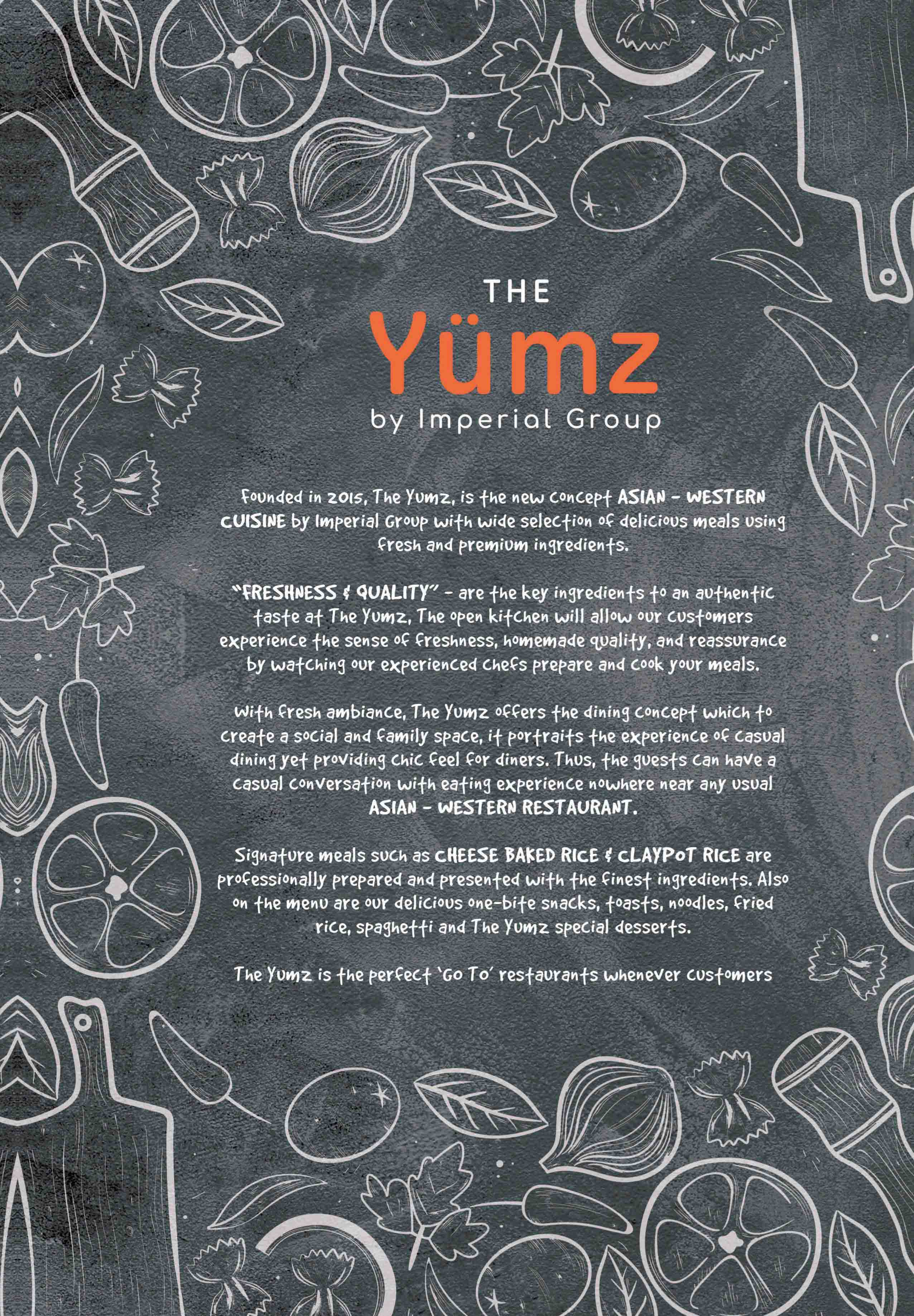 The Yumz Menu - Page 1
