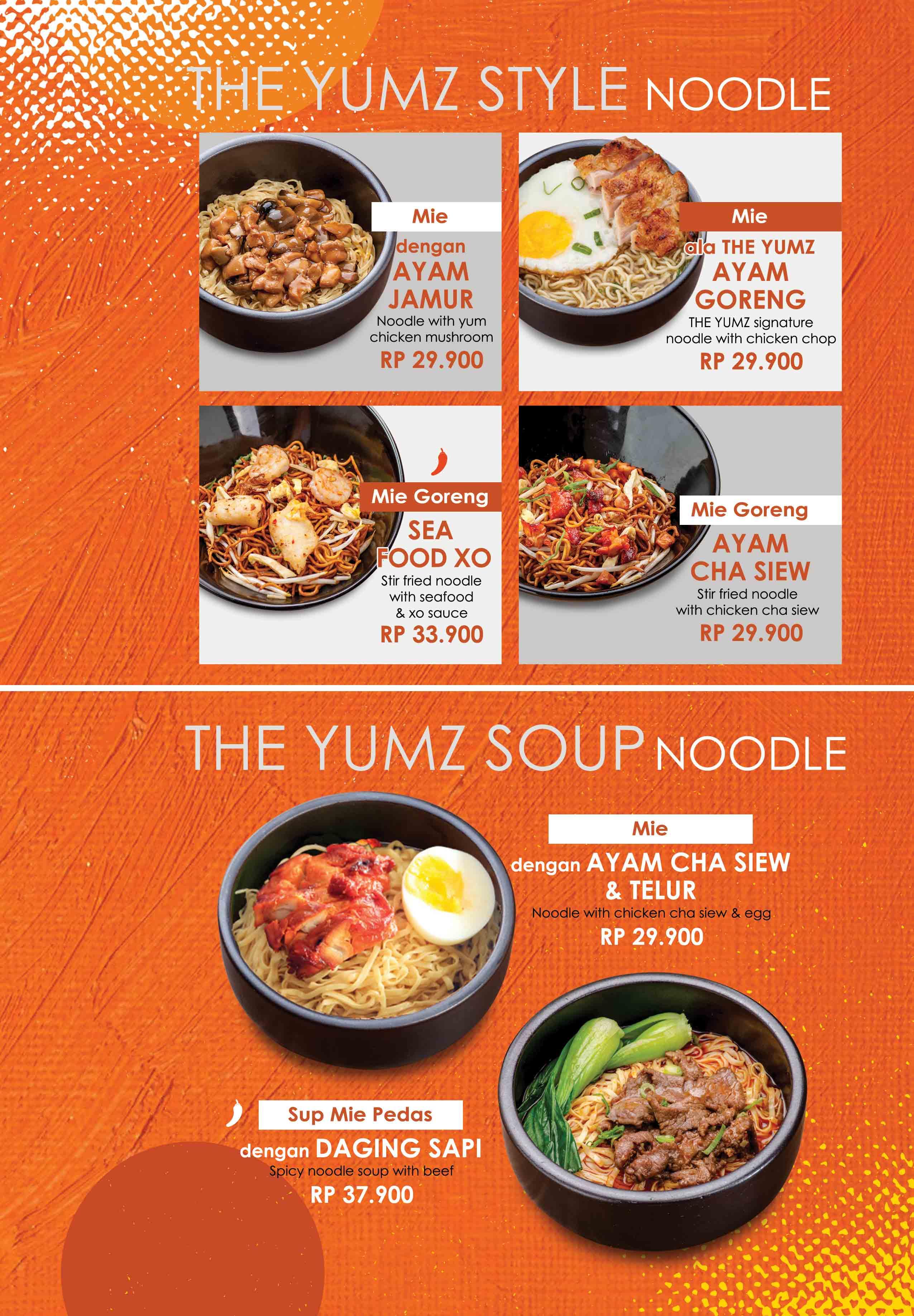 The Yumz Menu Page 11