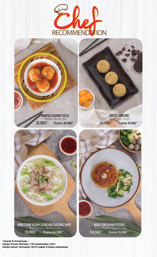 Imperial Kitchen Menu - Chef recommendation